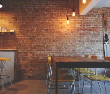 paredes de un restaurante