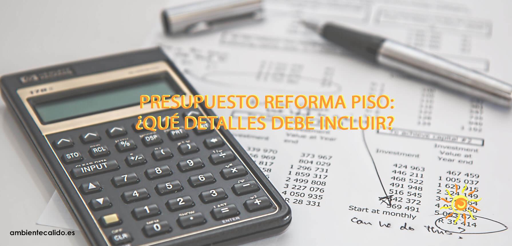 presupuesto reforma piso