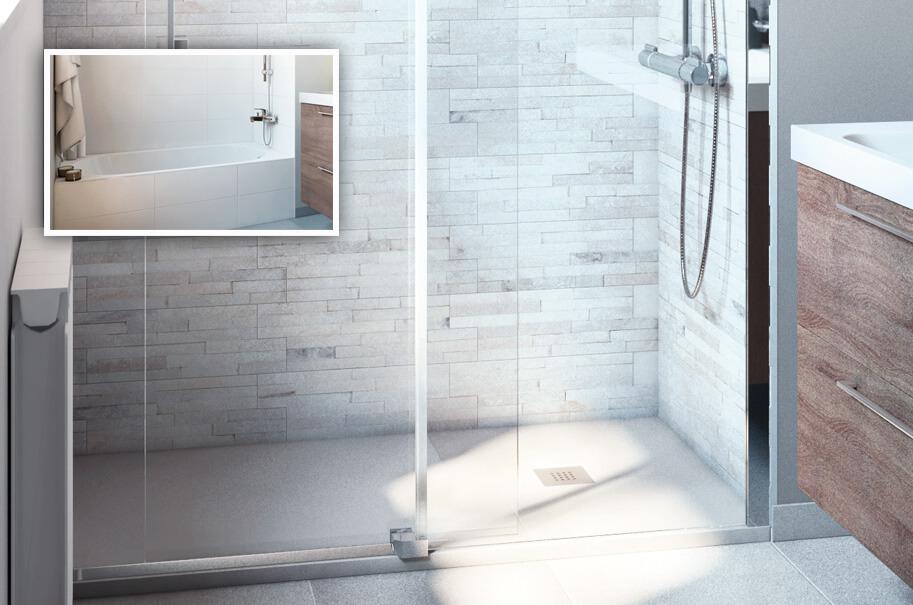 ahorrar espacio con ducha