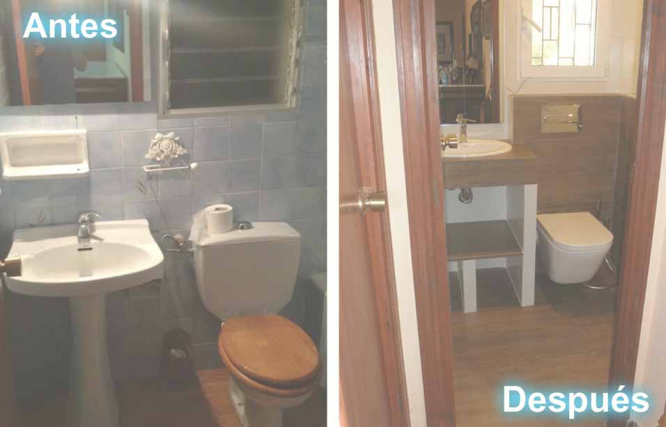 antes y después en reformas de baños