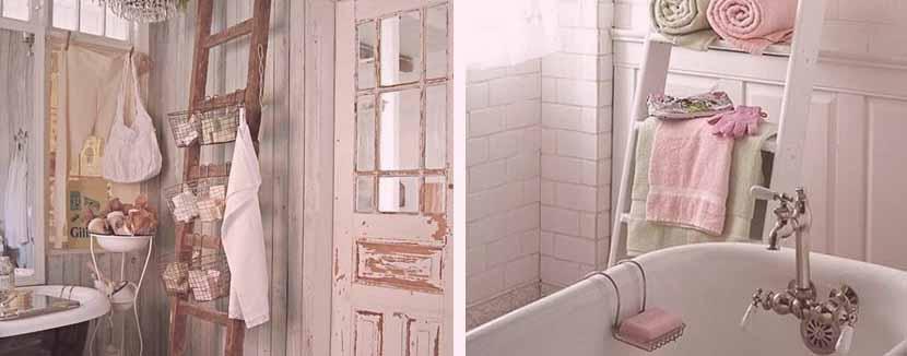 baño estilo shabby detalles