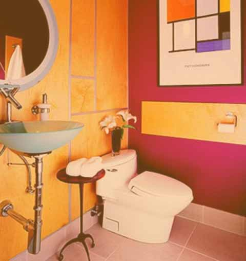 estilo de baño pop art