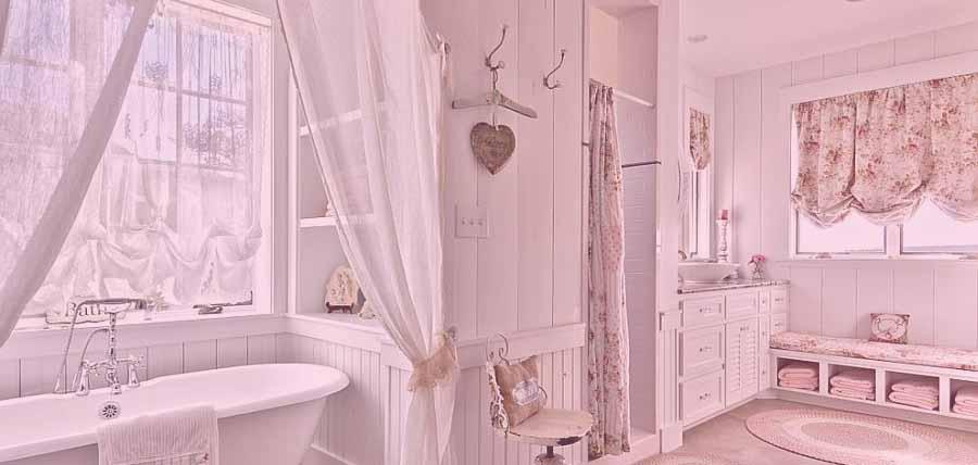 estilo de baño shabby